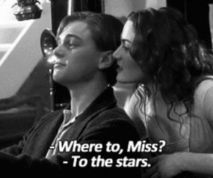 jack and rose, titanic, and to the stars image