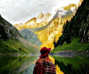 get lost, lake, and mountains image