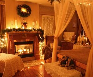 lights, bedroom, and christmas image