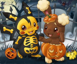Halloween, night, and pikachu image