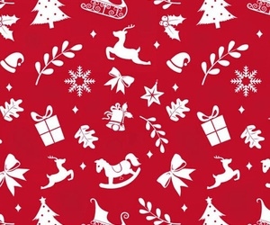 christmas, wallpaper, and red image