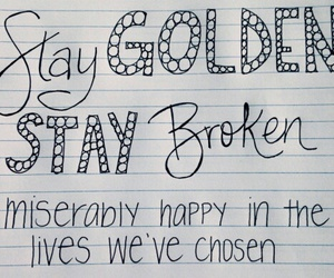Lyrics, music, and stay golden image