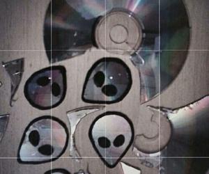 alien, grunge, and cd image