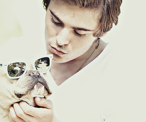 zac efron, dog, and boy image