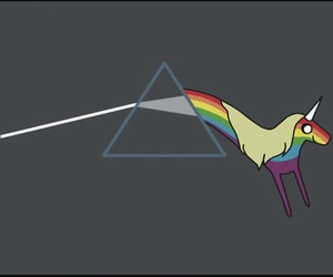 adventure time, Pink Floyd, and rainbow image