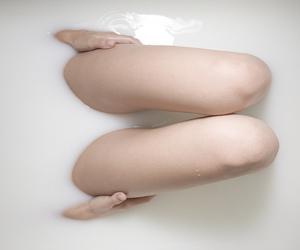 bath, legs, and bathtub image