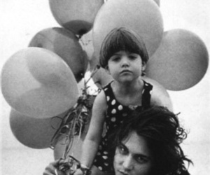 johnny depp, black and white, and balloons image