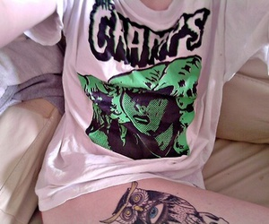tattoo, The Cramps, and owl image
