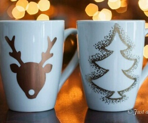 christmas, winter, and cup image