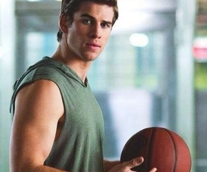 liam hemsworth, Hot, and Basketball image