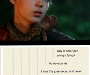 peter pan, once upon a time, and neverland image