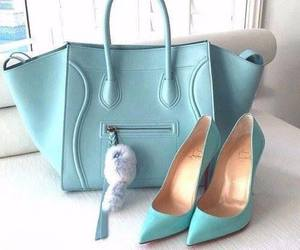 bag, shoes, and blue image
