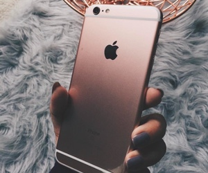 iphone, apple, and rose gold image