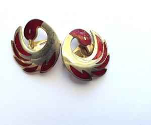 earrings, enamel, and etsy image