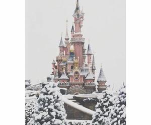 snow, winter, and disney image