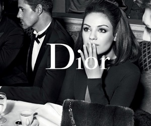 dior, Mila Kunis, and black and white image