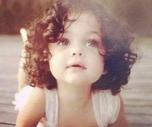 baby, girl, and eyes image