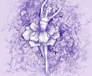 purpel, ballet, and nutcracker image