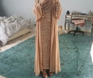 hijab, dress, and beautiful image