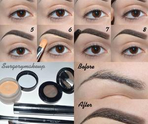 beauty, diy, and cejas image