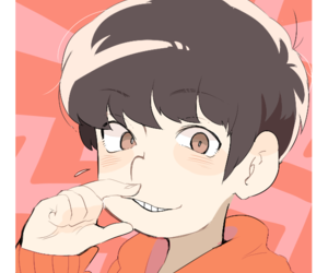 red, cute, and osomatsu-san image