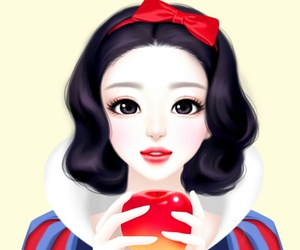 Enakei, girl, and snow white image