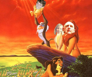 disney, lion king, and once upon a time image