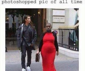 funny, kim kardashian, and kanye west image