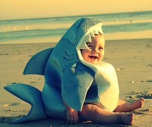 baby, funny, and shark image