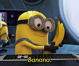 banana, minions, and despicable me image