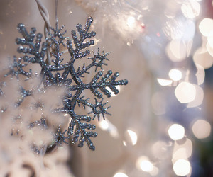 decoration, snowflake, and new year image
