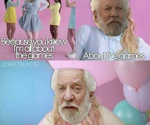funny, president snow, and the hunger games image