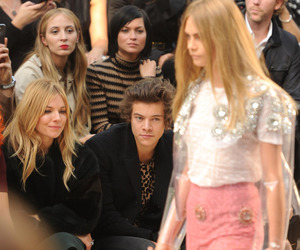 Harry Styles, one direction, and cara delevingne image