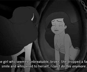 ariel, sad, and broken image