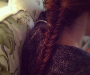 back, braid, and brown image