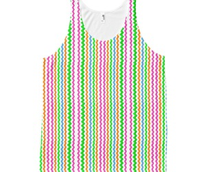colorful, stripes, and tank top image