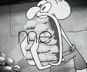 me, food, and spongebob image