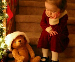 christmas, kids, and bear image