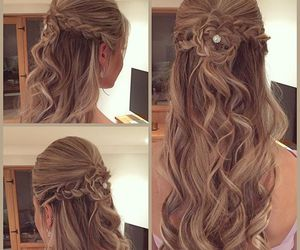 braid, brown, and style image