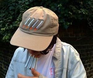 cigarette, boy, and tumblr image