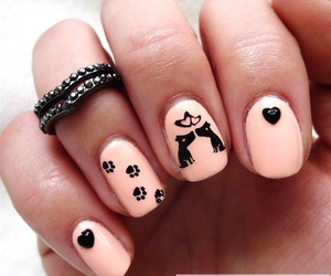 nails, dogs, and love image