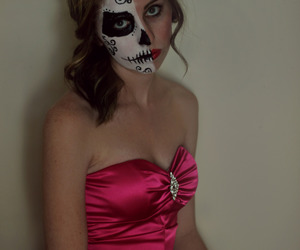 day of the dead, girl, and photography image