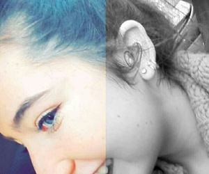 blue, myself, and filtre image