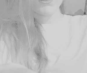 b&w, half face, and icon image