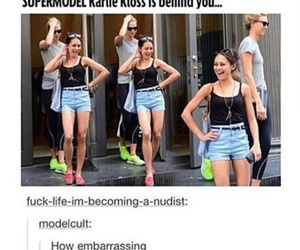 funny, model, and Karlie Kloss image