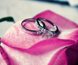 rings, pink, and diamond image