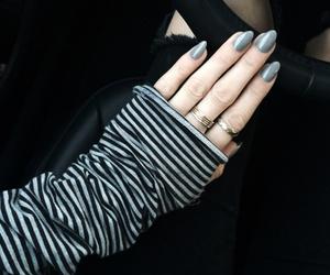 concrete jungle, grey nails, and gel manicure image