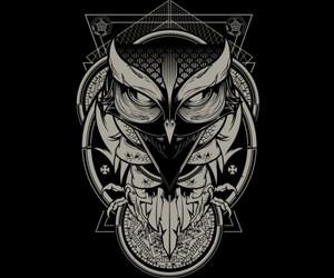 art, artwork, and owl image