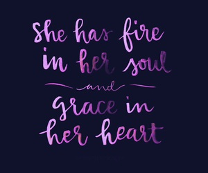 quotes, grace, and fire image