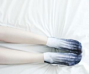 socks, grunge, and skeleton image